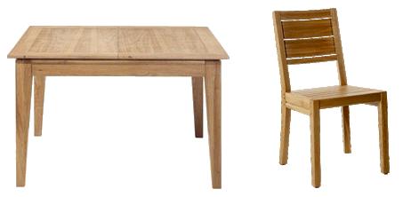 Prêt tables et chaises